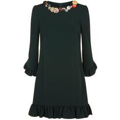 Dolce & Gabbana Embellished Dress (€2.320) ❤ liked on Polyvore featuring dresses, button dress, embellished dresses, dolce gabbana dress, glamorous dresses and embelished dress
