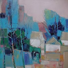 Nacido en Bretaña en 1960, Hervé Lenouvel siempre ha sido un apasionado de la pintura y el dibujo. Su infancia se desarrolla en el cam... Abstract Landscape Painting, Landscape Art, Landscape Paintings, Abstract Art, Acrylic Art, Tree Art, Contemporary Paintings, Modern Art, Artwork