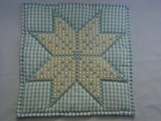 Blue gingham wall hanging with chicken scratch by MyCraftBooth, $22.00