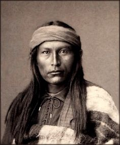 """Chief Naiche (ca. 1857-1919) was the final hereditary chief of the Chiricahua band of Apache Indians. Naiche's name, which in English means """"meddlesome one"""" or """"mischief maker"""", is alternately spelled Nache, Nachi, or Natchez. He was the youngest son of Cochise. Naiche died on March 16, 1919 in Mescalero, New Mexico."""