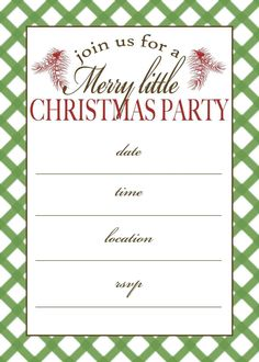Christmas Party Invitations Templates Word Cookie Swap Pinterest - Party invitation template: printable christmas party invite template
