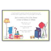 Home & Garden Bridal Shower Invitations, Taking Sides His Hers, 5522