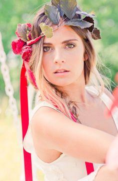 Flower Crowns in Boho Bridal Shoot