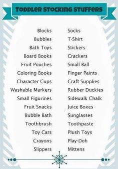 Stocking stuffer ideas for toddlers love this