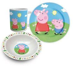 Peppa Pig Three Piece Ceramic Lunch And Dinner Set By Bes...   sc 1 st  Pinterest & Peppa Pig Tumbler Bowl u0026 Plate Set | Peppa Pig | Pinterest