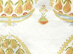 Raoul Textiles Fig Hand Printed Linen Drapery by TheDraperyGal