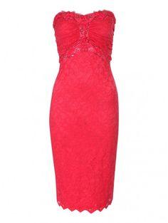 Pink Lace Bandeau Dress | Jane Norman
