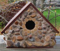 River Stone Mosaic Decorative Birdhouse by RedfordGlassStudio, $26.00