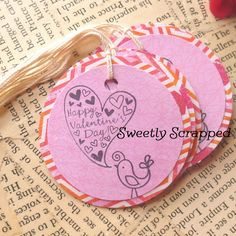 Happy Valentine's Day Tags ... Bird Pink by SweetlyScrappedArt