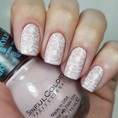 I recently received some of the new @sinfulcolors_official Kylie Jenner Trend Matters Satin Matte polishes for review. This is 2 coats of Taupe is Chic with @bornprettystore Stamping (plate BPL-024) over top.