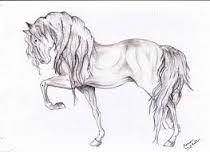 Resultado de imagen para dibujos a lapiz de caballos corriendo
