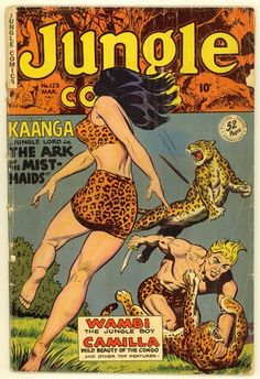 Jungle Comics 123 1950 Good Plus 2 5 Fiction House Jungle Whitman Art | eBay
