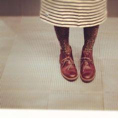 Clarks | Desert Boots | Mixed prints | Instagram photo by @e_kaori