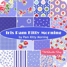 Iris Pam Kitty Morning Fat Quarter Bundle Pam Kitty Morning for Lakehouse Dry Goods - Fat Quarter Shop