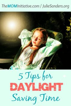 5 Tips for Kids and Daylight Saving Time