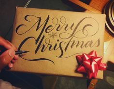 Butcher paper is a letterer's best friend for Christmas presents!
