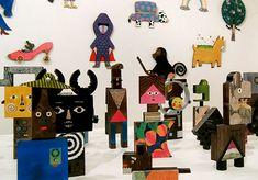 Wonder World exhibition by tupera tupera (Tatsuya Kameyama and Atsuko Nakagawa). Paper Dolls, Art Dolls, Fantasy Figures, Little Designs, Retro Color, Art Lesson Plans, Art Plastique, Three Dimensional, Les Oeuvres