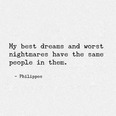 best dreams & worst nightmares