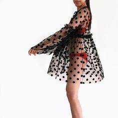 Tulle dress,overdress,black mesh dress, beach dress,polka dot dress,coverup, sheer dress, formal summer dress,oversize dress,transparent