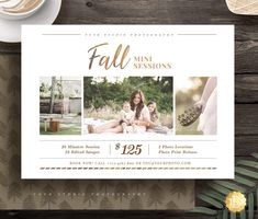 Fall Family Mini Session Template for Photographer, Mini Session Marketing Flyer, Holiday Autumn Ses Photography Mini Sessions, Photography Flyer, Photography Marketing, Autumn Photography, Photography Business, Photography Templates, Photography Camera, Abstract Photography, Children Photography
