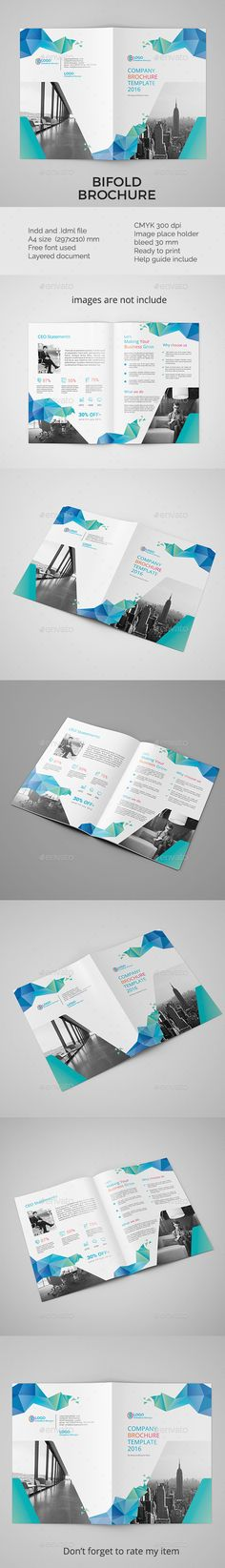 Corporate bifold brochure vol 5 - InDesign Template • Only available here ➝ https://graphicriver.net/item/corporate-bifold-brochure-vol-5/16936951?ref=pxcr
