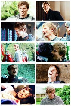 Arthur + Laughing #gifset // Guys, in every image it is MERLIN who is making him smile like that. Jkdljfosijlfjowfjieljljlkkjspwefjkl!!!! ^^