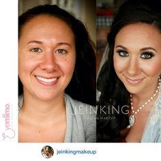 #beforeandafter by @jeinkingmakeup - Portland, Oregon based Makeup Artist, beautifying her client with our Cluster Eyelash Extensions which are available online at   http://www.shopeyemimo.com/categories/Eyelash-Extensions/
