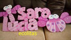 Nombres En Arte Country Precios Desde 35.000 - $ 45.000 en Mercado Libre Painting Wooden Letters, Arte Country, My Little Pony, Baby Shower, Crafts, Sink Tops, Alphabet, Craft, Ideas