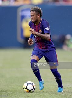 Neymar #11 of Barcelona takes the ball in the first half against Juventus during the International Champions Cup 2017 on July 22, 2017 at MetLife Stadium in East Rutherford, New Jersey.
