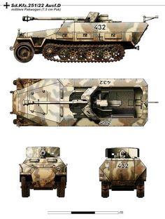 cm PaK 40 auf mittlerem Schützenpanzerwagen SdKfz Ausf D -German SPG German Soldiers Ww2, German Army, Army Vehicles, Armored Vehicles, Panzer Ii, Scale Model Ships, Mundo Comic, Model Tanks, Armored Fighting Vehicle