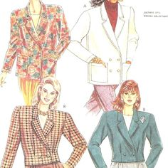 McCall's 4474 Sewing Pattern Misses Jacket Size 10/12 1989 Uncut