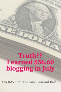 July Blog Earnings- Not all blogs make a killing, but I did earn some legit money!  Work at home, money, blogging.
