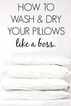How to wash your pillows