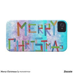 Merry Christmas Case-Mate iPhone 4 Case #MerryChristmas #Holiday #Winter #Snow #Santa #Christmas #Mobile #Phone #Cover #Case #iPhone