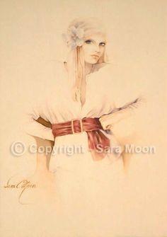 """Yvette"" Oil on Canvas by Sara Moon Sarah Moon, Anna Dittmann, Claudia Tremblay, Teheran, Vintage Moon, Creation Photo, Art Manga, Art Calendar, Moon Pictures"