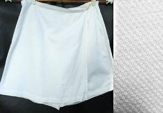 Soft White Skort Size 20 1x Venezia Textured Lightweight 100% Cotton  #Venezia #Skort