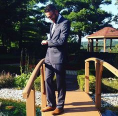 Sharing a #personalstyle pin from a family wedding in Michigan, featuring the terrific Spread Collar Dress Shirt from Standard Shirt! Navy suit & floral pocket square by J. Crew. Tan suede Chelsea boots by ASOS. Silver knit tie by Banana Republic. Watch by Invicta. Glasses by Warby Parker.