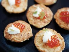 Cauliflower Fritters | To create these wonderful tapas, José Andrés makes a batter with crunchy nubs of chopped cauliflower florets, fries spoonfuls in a skillet and then to...