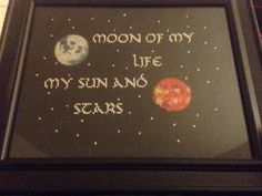 Game of Thrones moon of my life my sun and by TheGirlWhoStitched awesome cross stitch for sale.