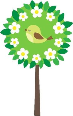 bird in tree Paper Crafts For Kids, Preschool Crafts, Diy And Crafts, Arts And Crafts, Class Decoration, School Decorations, Spring Art, Spring Crafts, Art Projects
