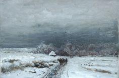 Louis Apol - Reiziger in een besneeuwd landschap