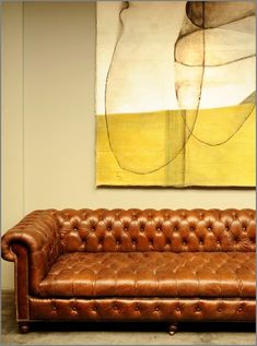 A leather chesterfield. There is no other option. This will be our next and final couch purchase