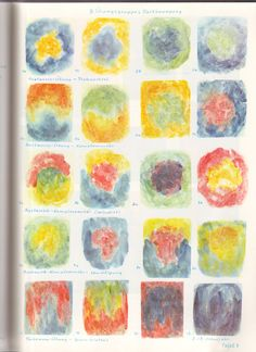 Class 2 and 3 painting exercises