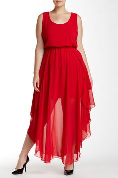 Soprano - Asymmetrical Hem Maxi Dress (Plus Size) at Nordstrom Rack. Free Shipping on orders over $100.