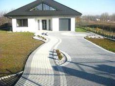 Designs of gardens gardens - Do Garden Backyard Garden Landscape, Home Landscaping, Dream Home Design, House Design, Outside Tiles, Paver Designs, Paving Design, Concrete Driveways, Entrance Ways