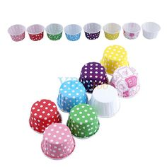 Multicolor 100X Xmas Wedding Birthday Paper Cupcake Cases Baking Cups Muffin Bt