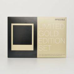 Polaroid Limited Gold Edition Set - lifestylerstore - http://www.lifestylerstore.com/polaroid-limited-gold-edition-set/