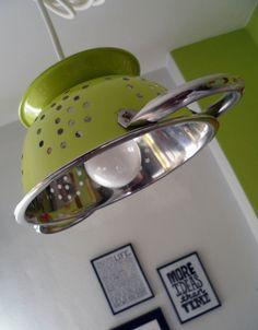 lampara de cocina con colador