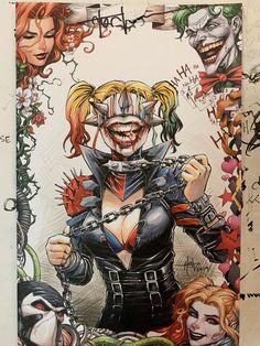 Harley Quinn Drawing, Joker And Harley Quinn, Batman Artwork, Batman Comic Art, Smile Drawing, Comic Villains, Batman Dark, Gotham Girls, Joker Wallpapers