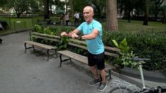 Before stuck-in-the-gym season begins, take your workout outdoors. The exercises above, created by celebrity trainer David Kirsch, require only a park bench and a resistance band to work your entire body.